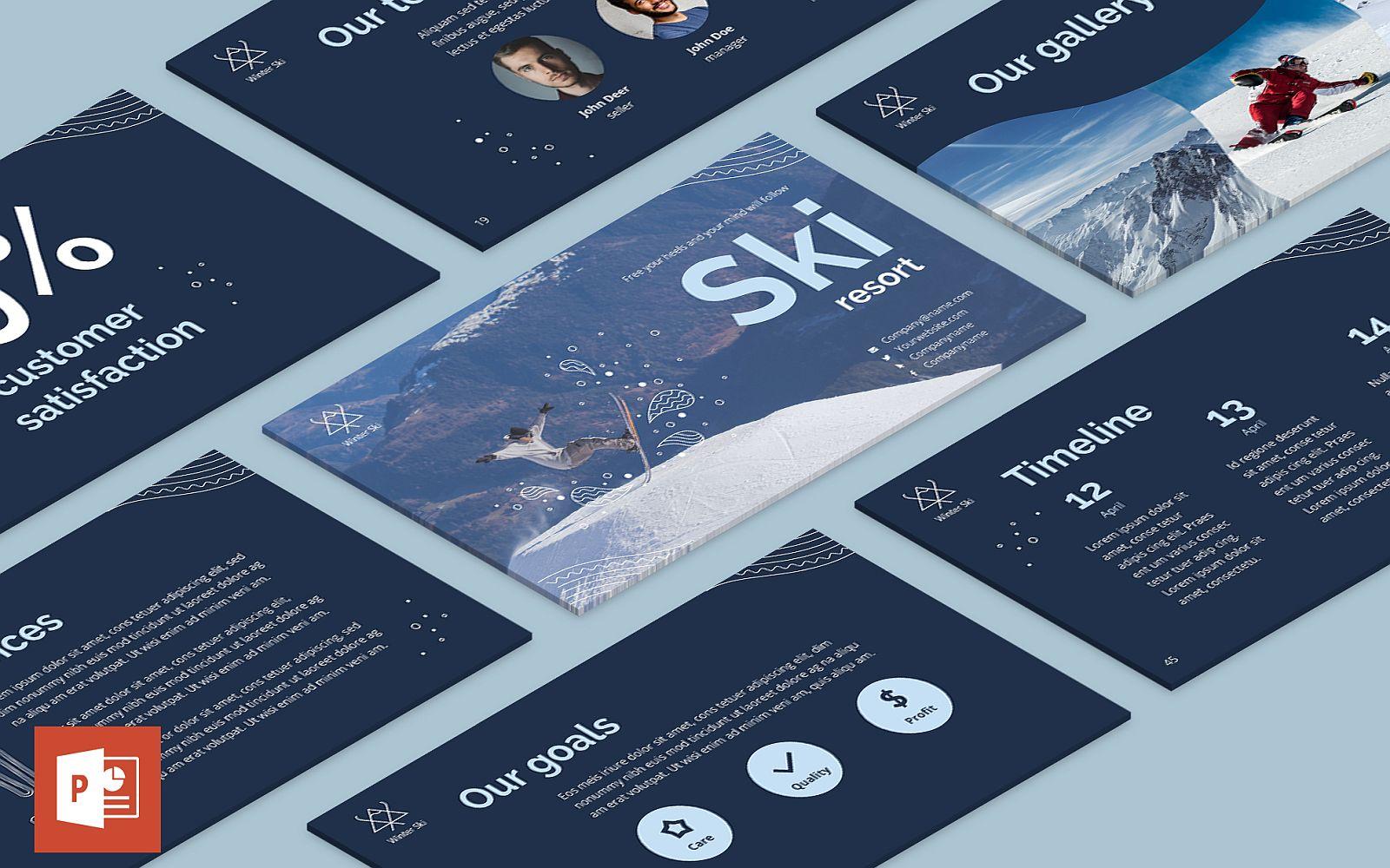 Ski Resort Presentation PowerPoint Template
