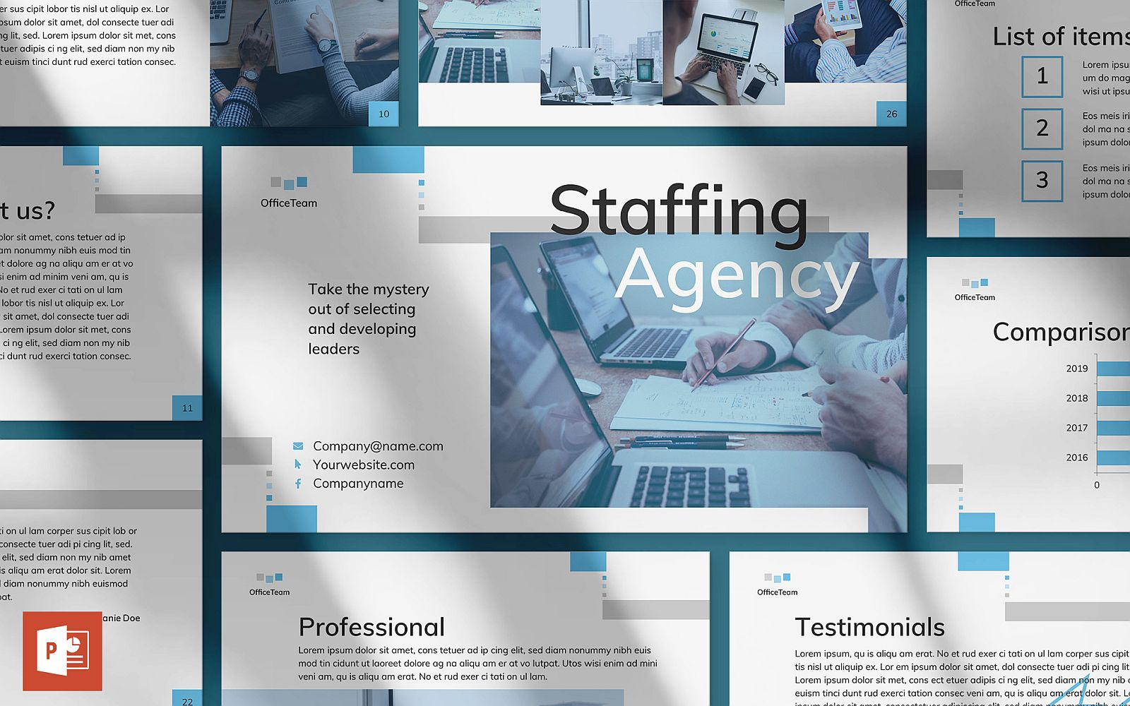 Staffing Agency Presentation PowerPoint Template