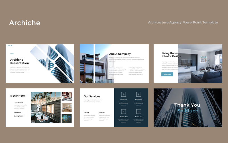 Archiche - Architecture Agency PowerPoint Template