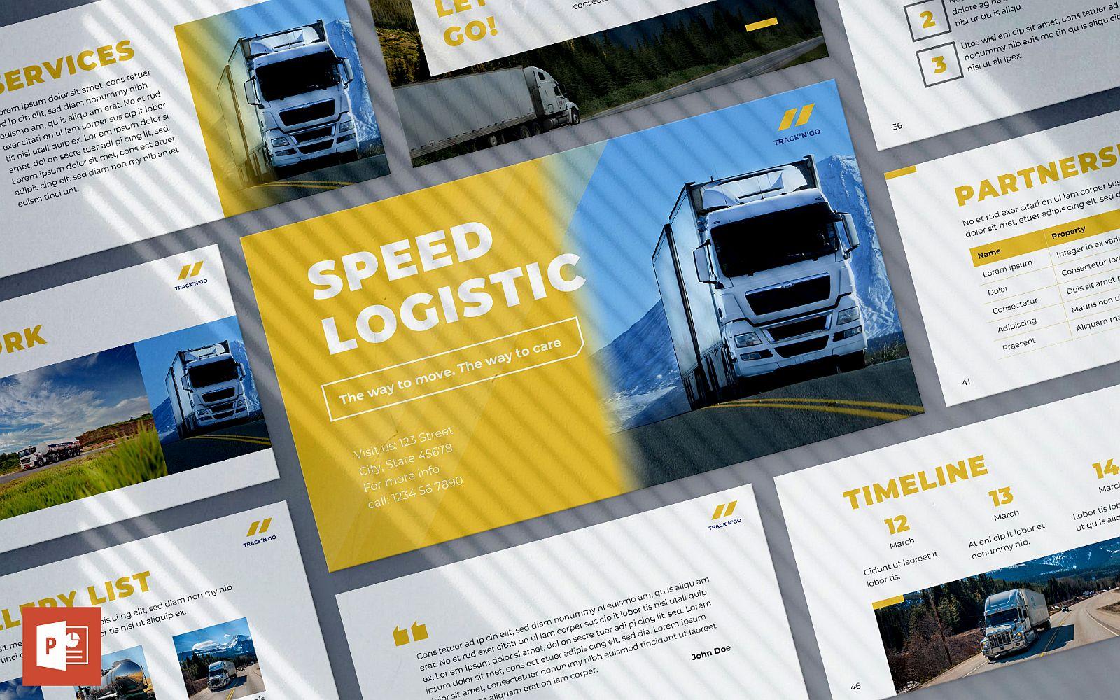 Logistics Presentation PowerPoint template