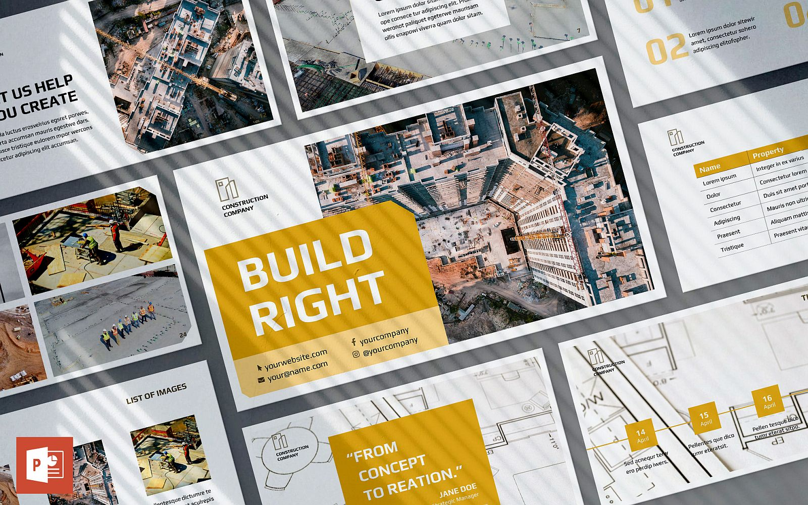 Construction Company Presentation PowerPoint template