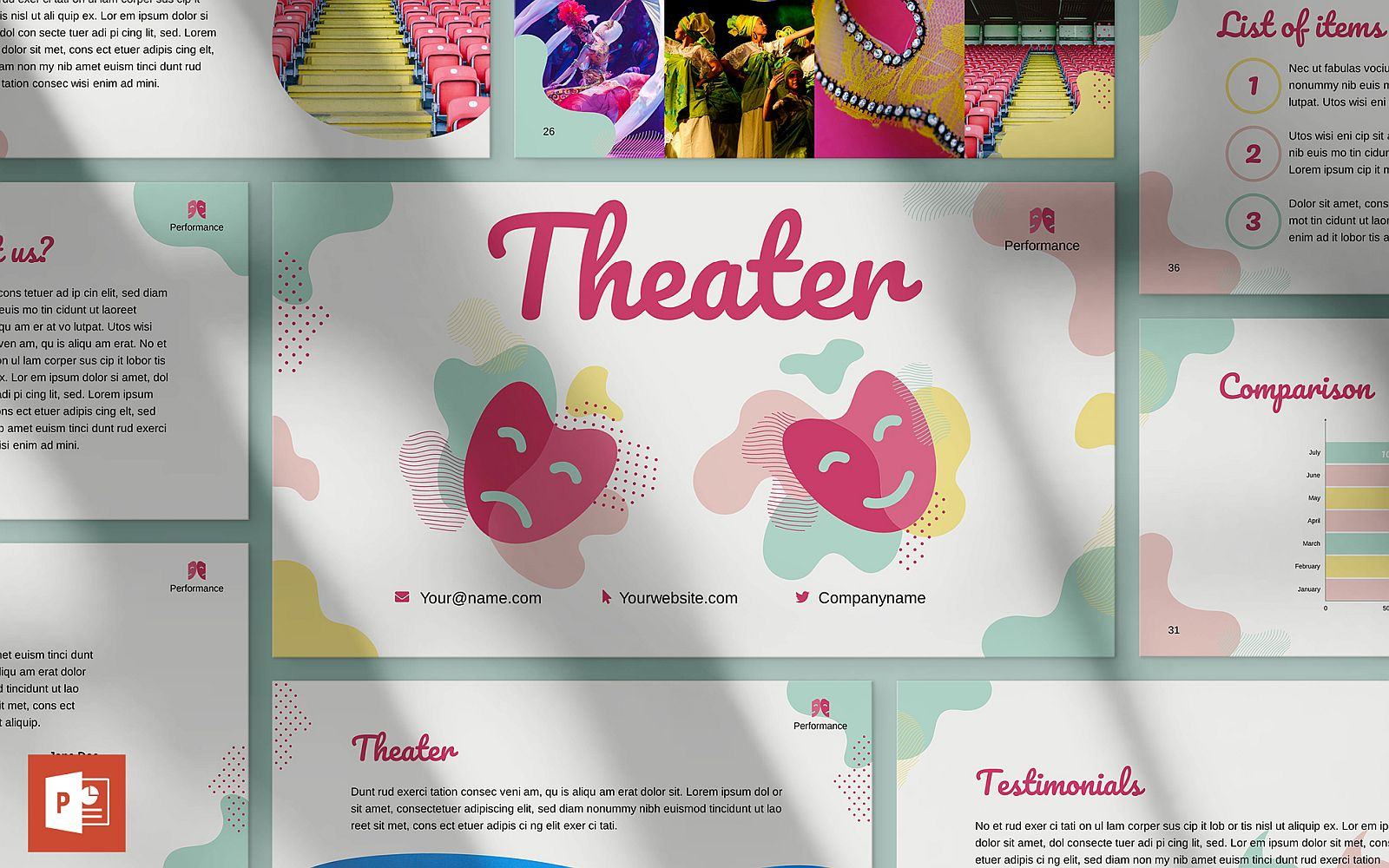 Theater Presentation PowerPoint Template