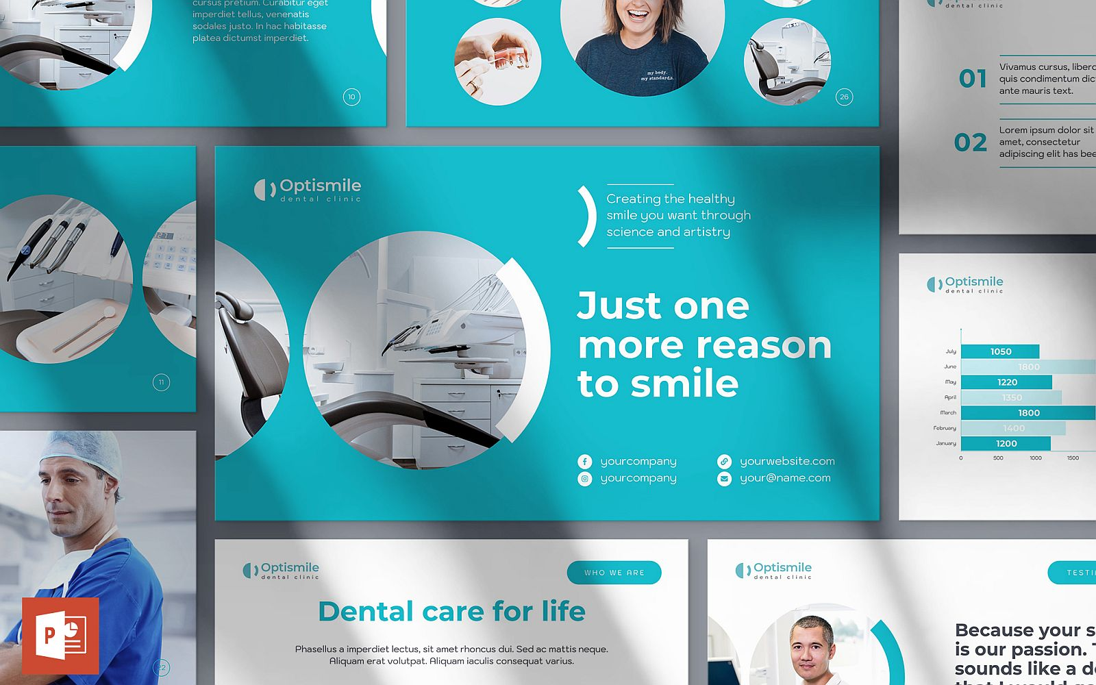 Dental Clinic Presentation PowerPoint Template