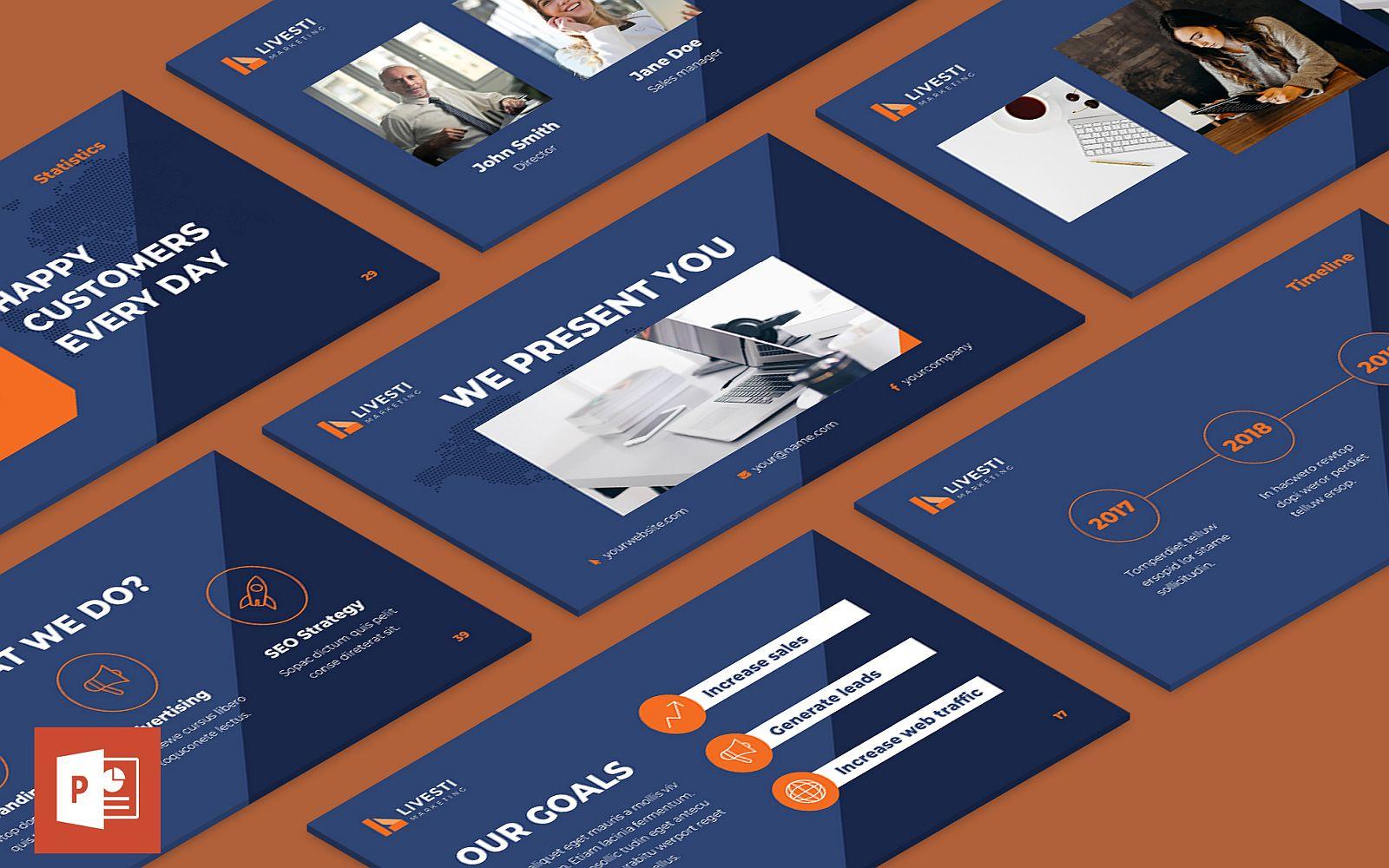Marketing Agency Presentation PowerPoint Template