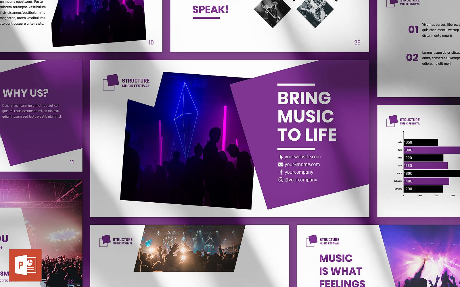 Music Festival Presentation PowerPoint Template