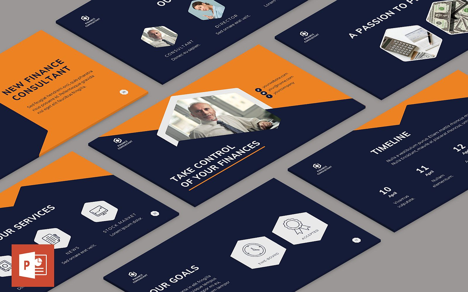 Finance Consultant Presentation PowerPoint Template