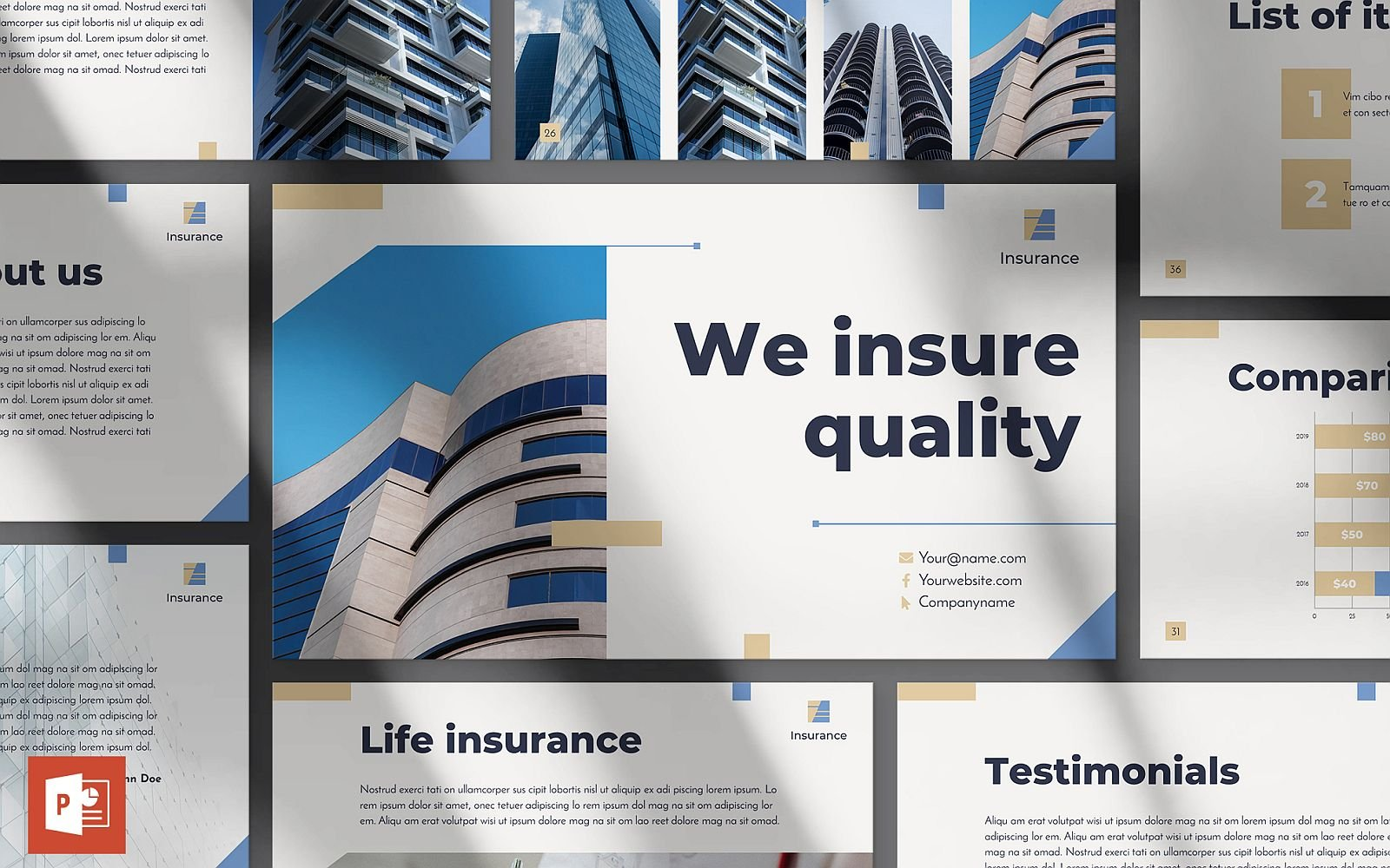 Insurance Agency Presentation PowerPoint Template