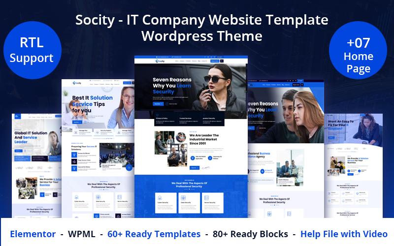 Socity - IT Company Website Template WordPress Theme