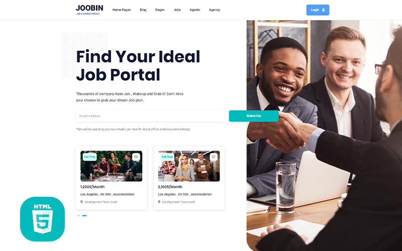 Jooben | Job Board Portal Website Template