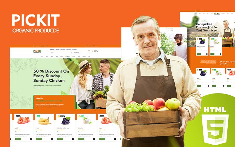Pickit - Organic Food Website Template