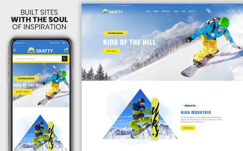 Skatty - The Skateboard Responsive Premium Ecommerce Shopify Theme