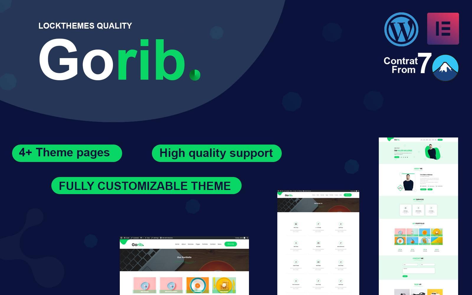 Gorib-Portfolio WordPress Theme