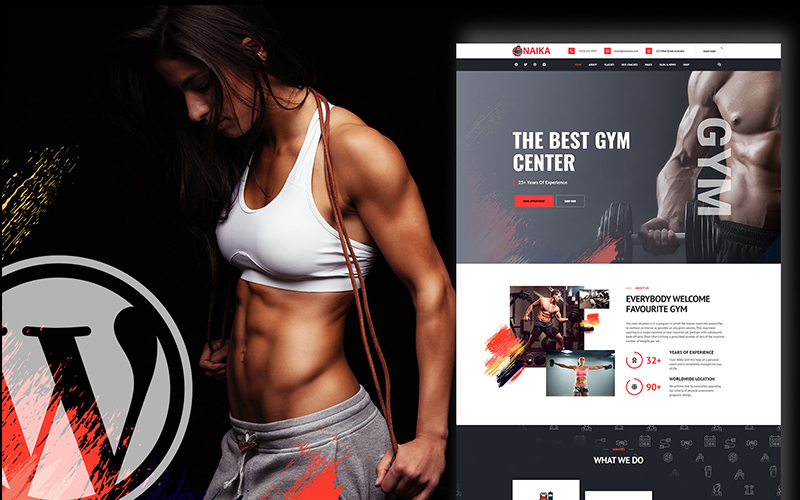 Naika Fitness Gym Shop WordPress Theme