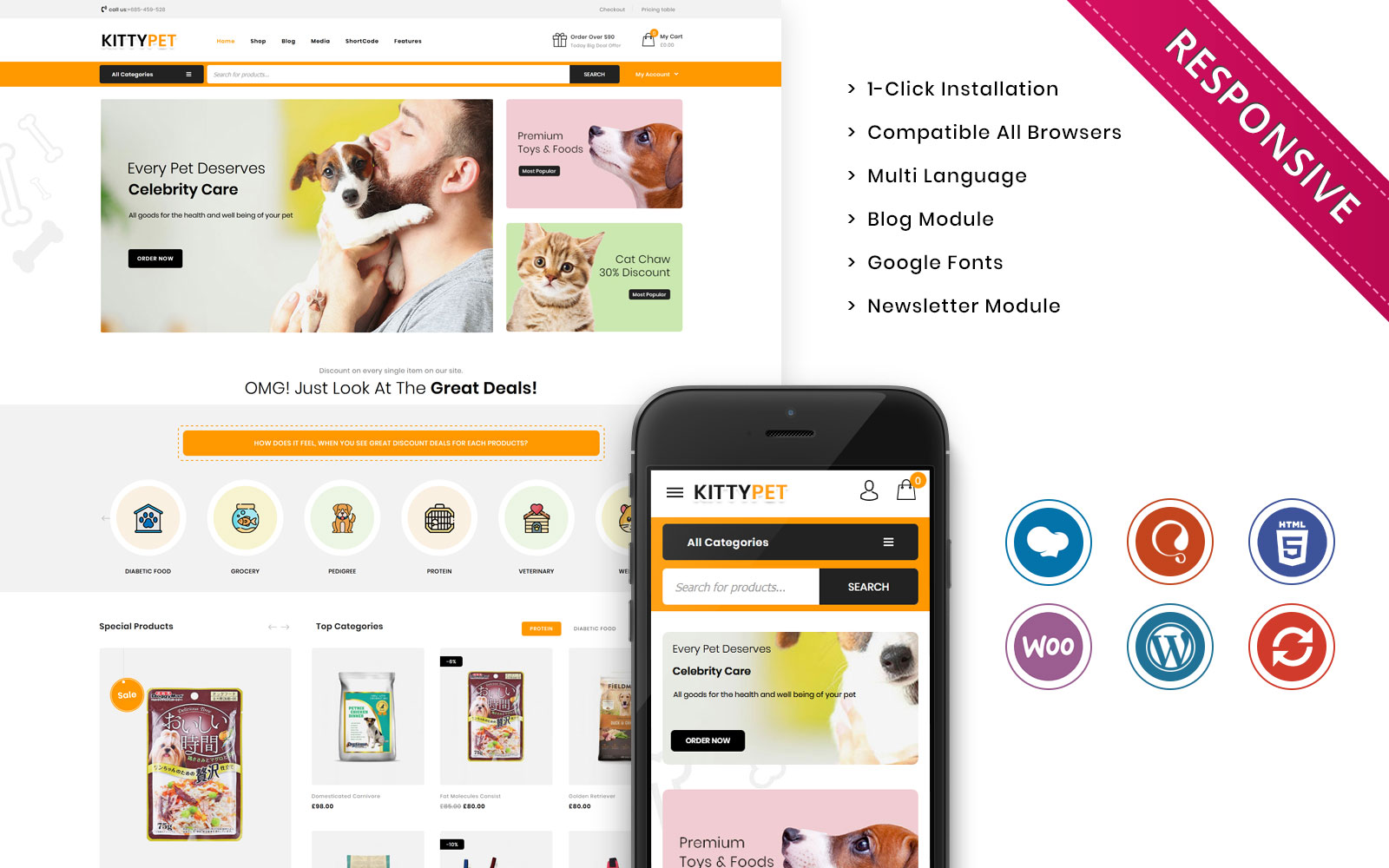 Kittypet - The Pet Store Responsive WooCommerce Theme