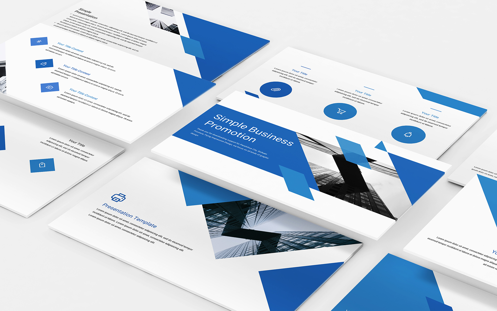 Simple Business Promotion PowerPoint Template