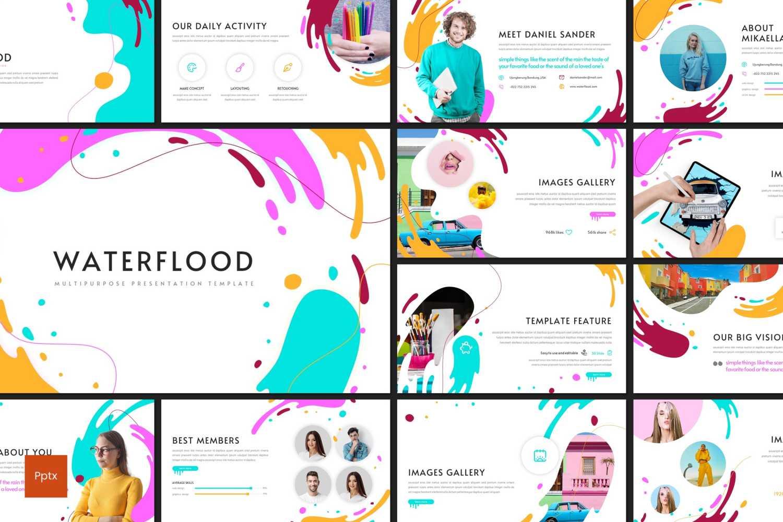 Waterflood PowerPoint Template