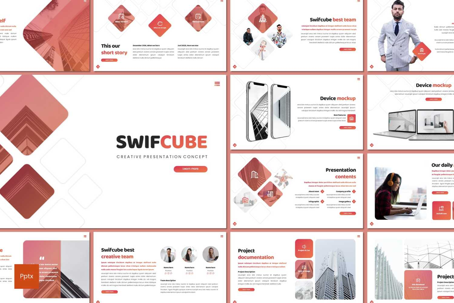 Swiftcube PowerPoint Template