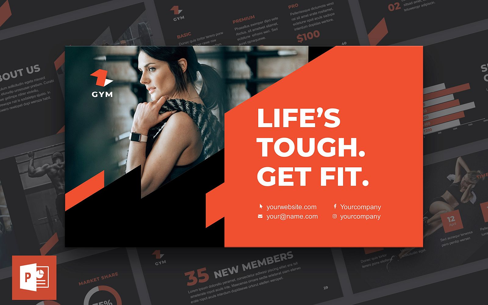 Gym Presentation PowerPoint Template