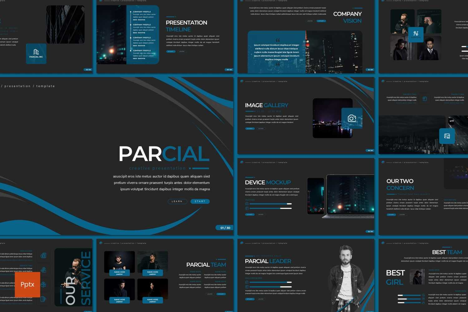 Parcial PowerPoint Template