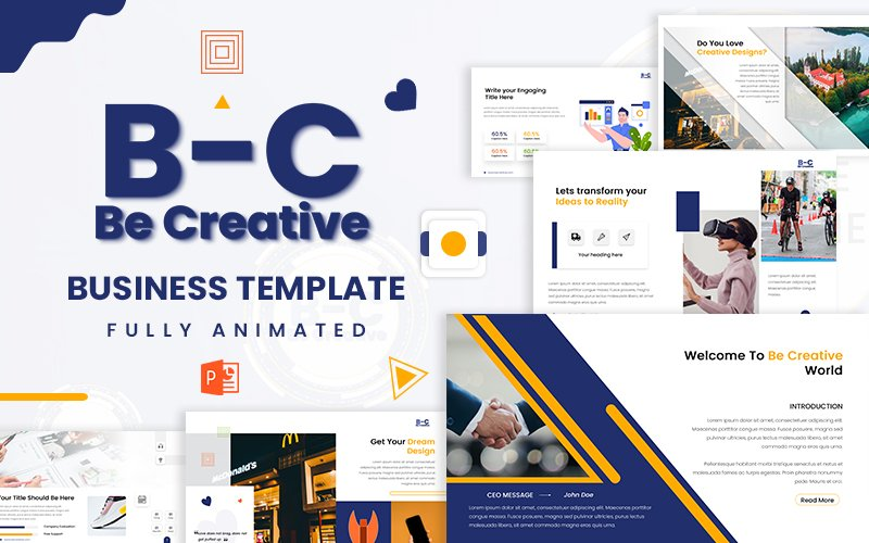 Be Creative Business PowerPoint Template
