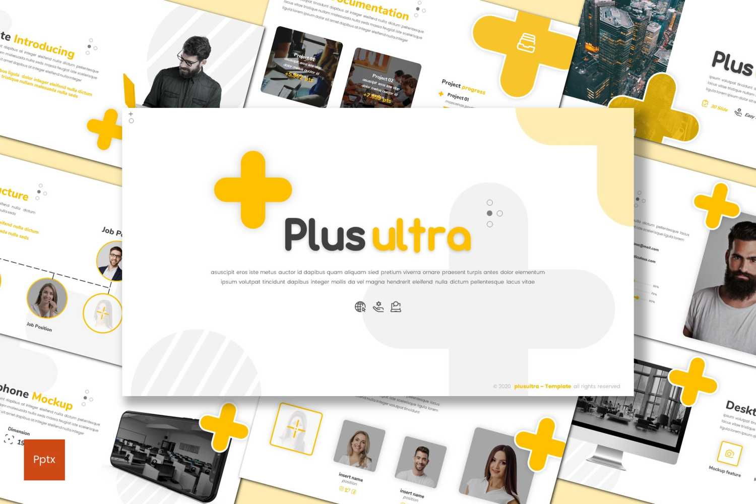Plus Ultra PowerPoint Template