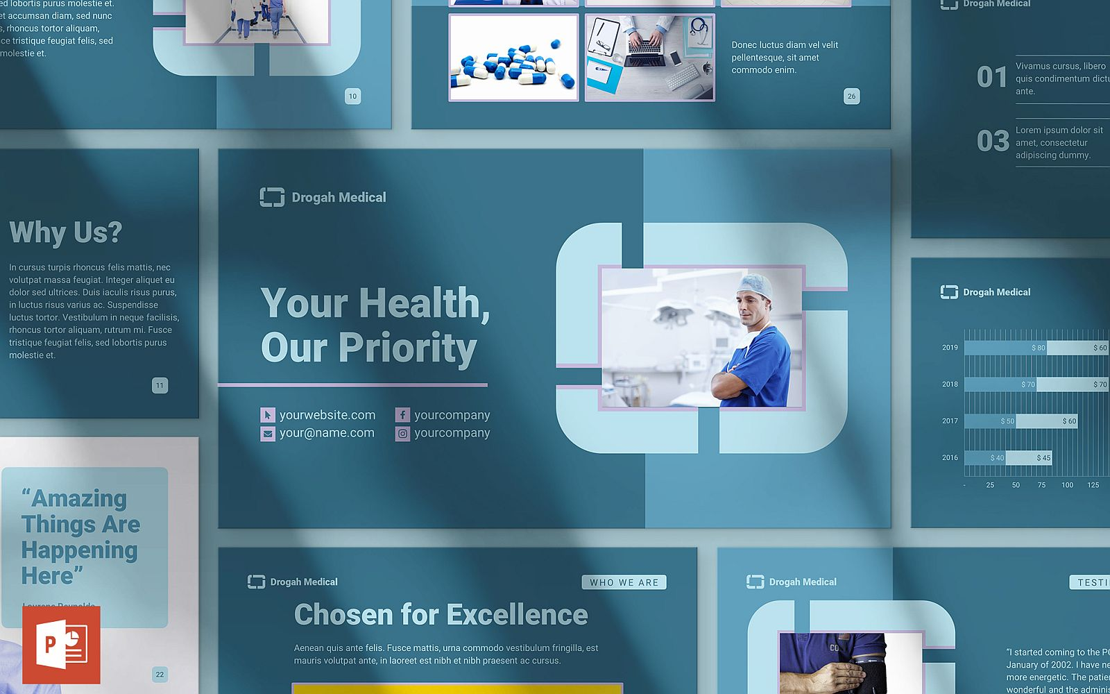 Clinic Presentation PowerPoint Template