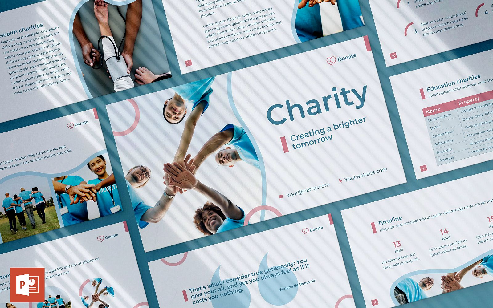 Charity Presentation PowerPoint Template