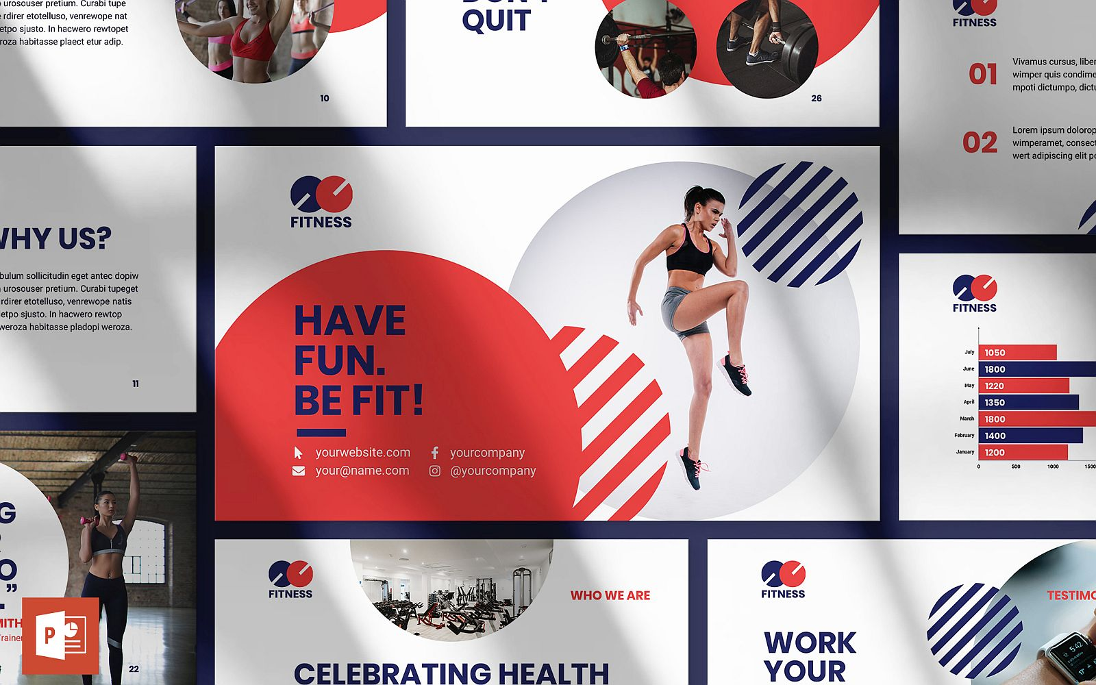 Fitness Trainer Presentation PowerPoint Template