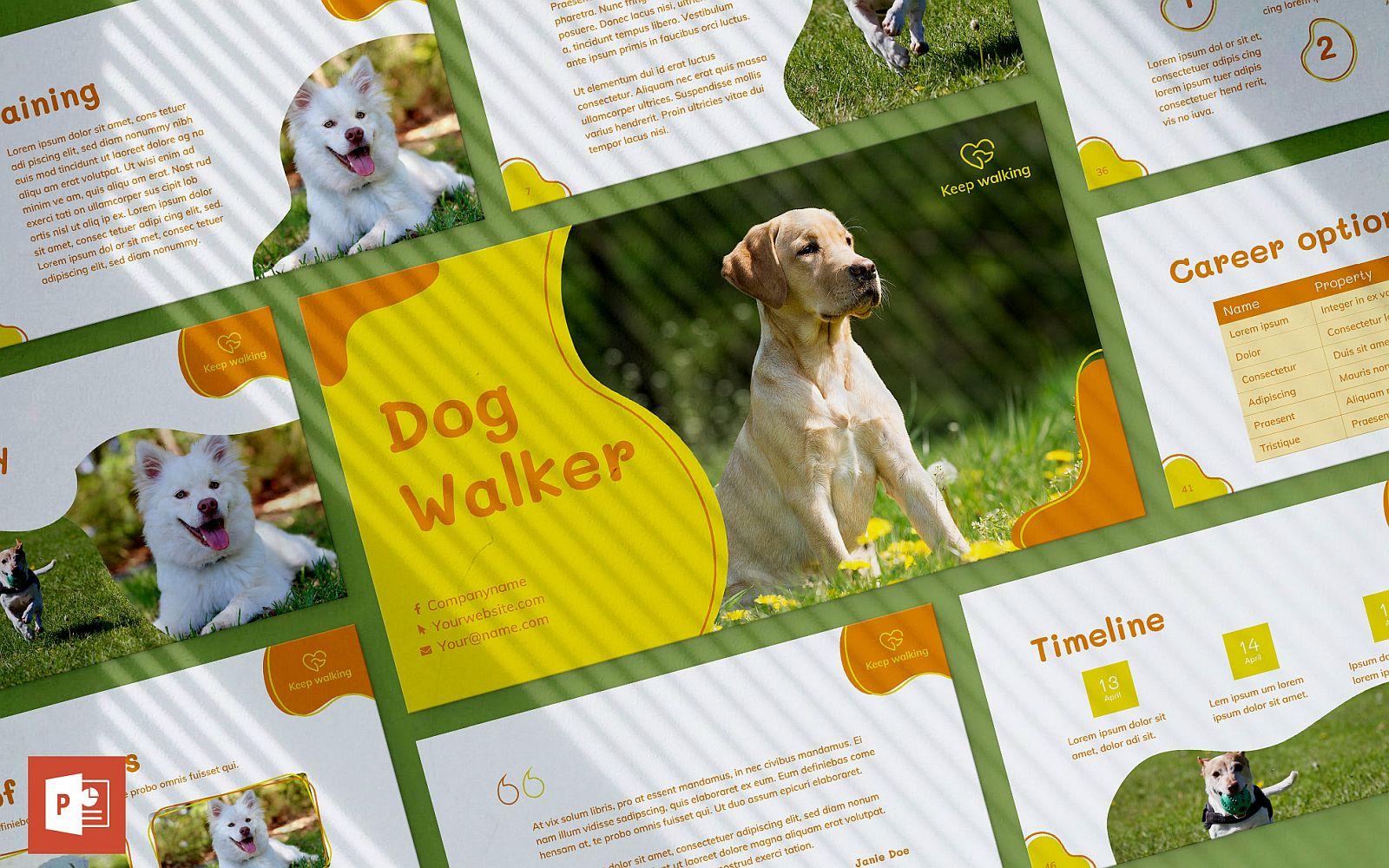 Dog Walker Presentation PowerPoint Template
