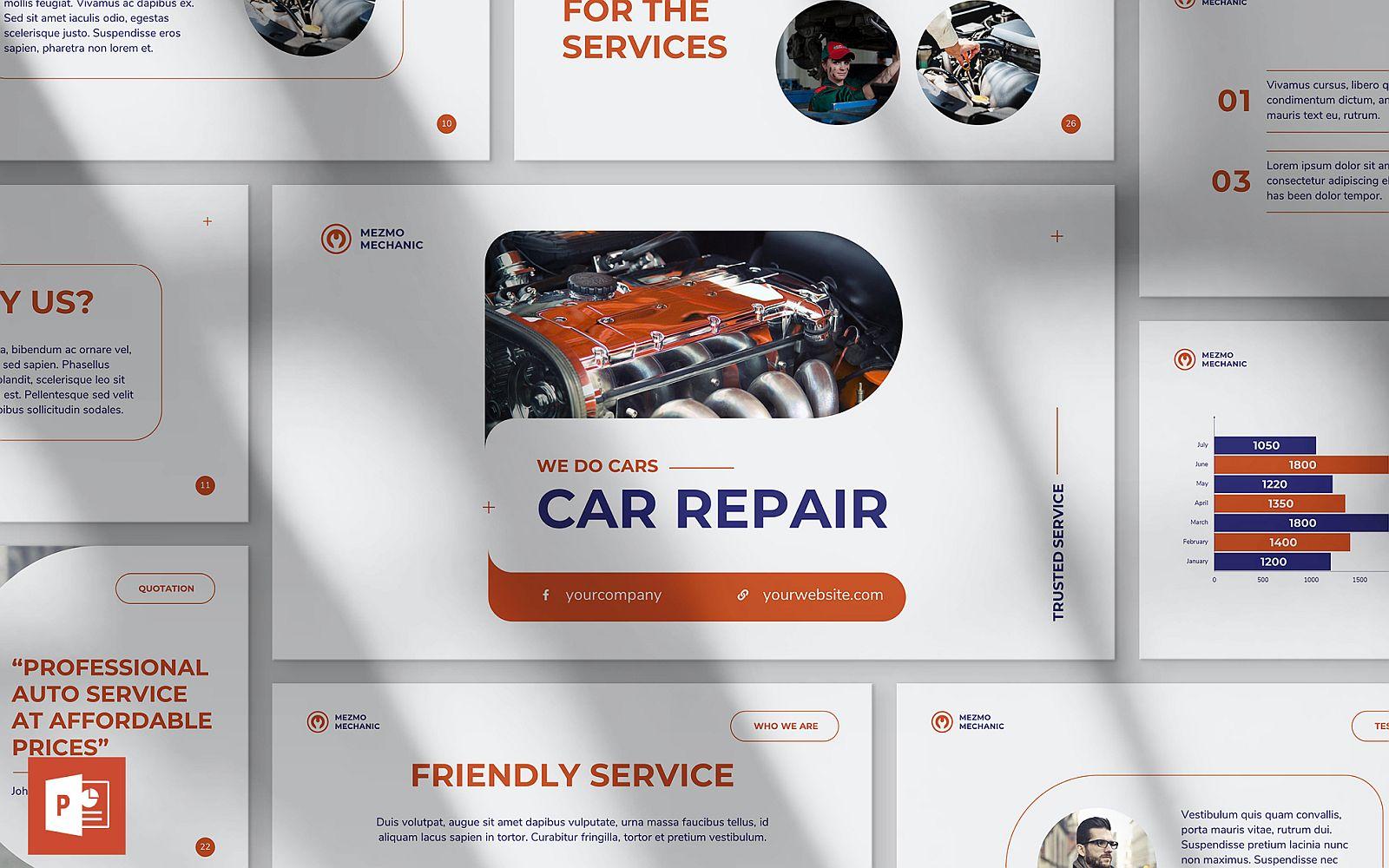Car Repair Presentation PowerPoint Template