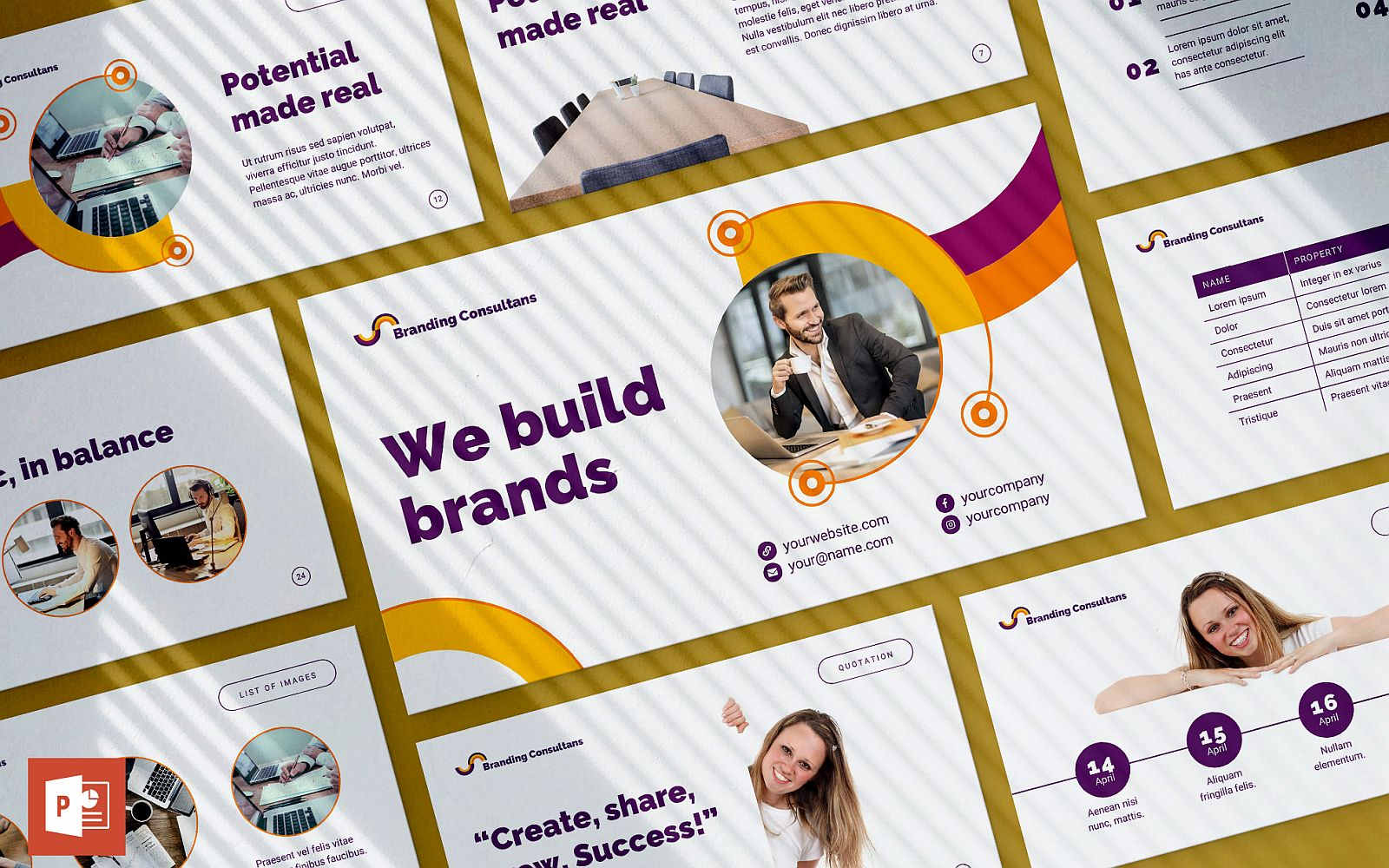 Branding Consultant Presentation PowerPoint Template