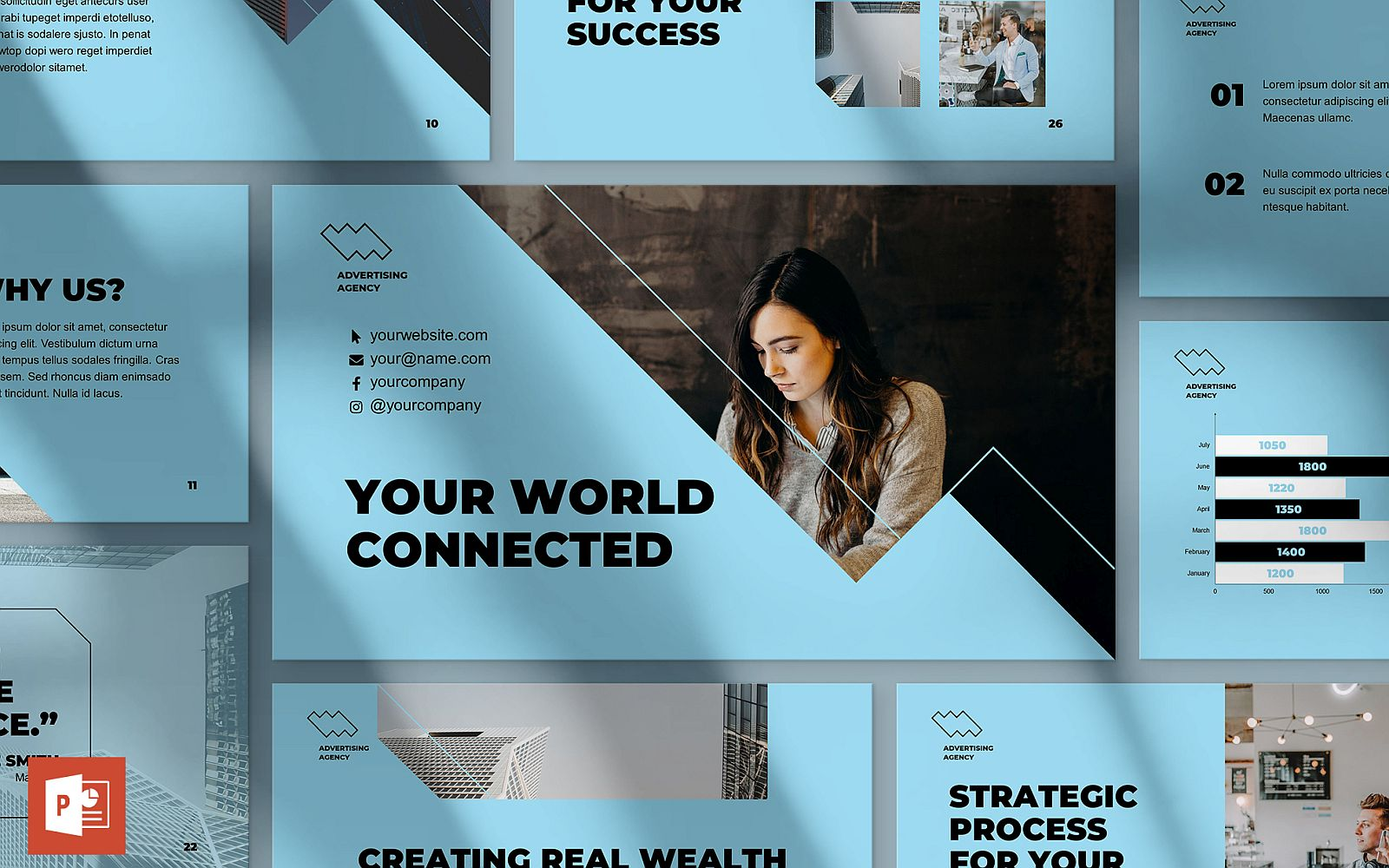 Advertising Consultant Presentation PowerPoint Template