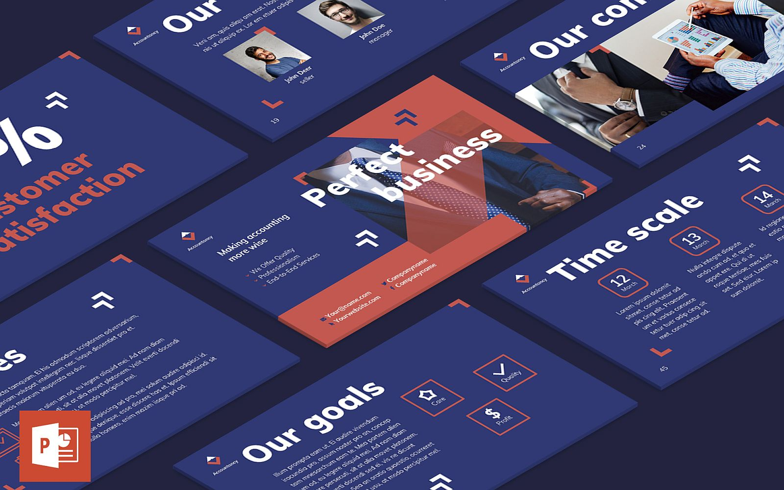 Accountancy Firm Presentation PowerPoint Template