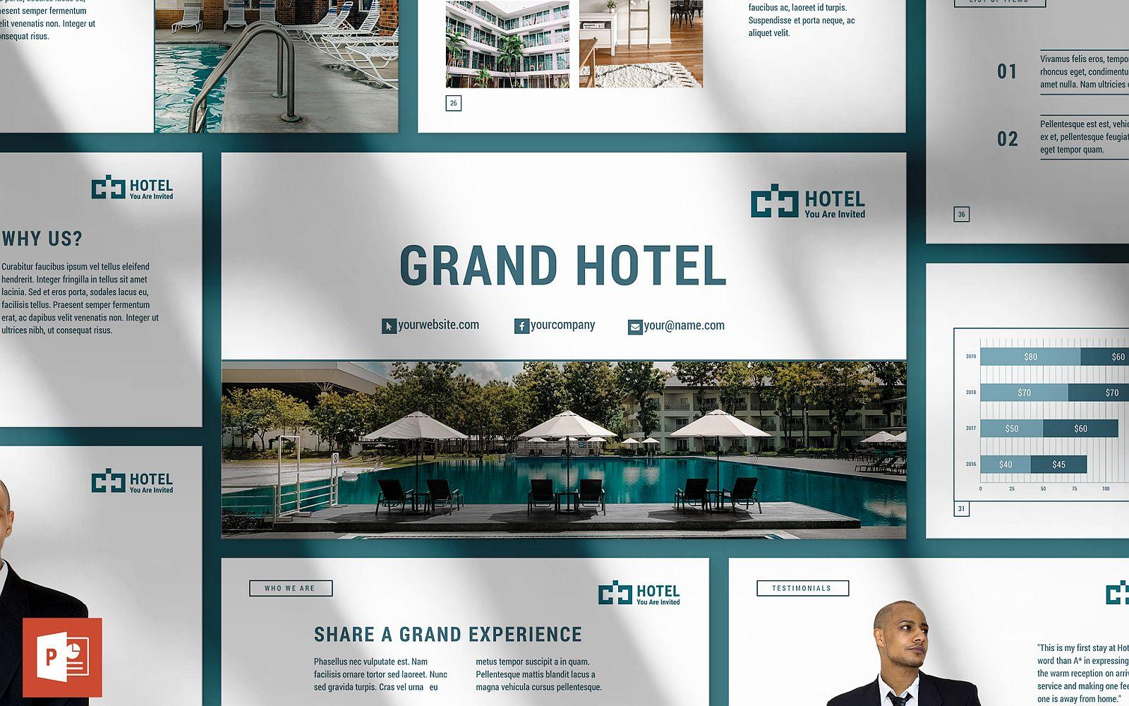 Hotel Presentation PowerPoint template