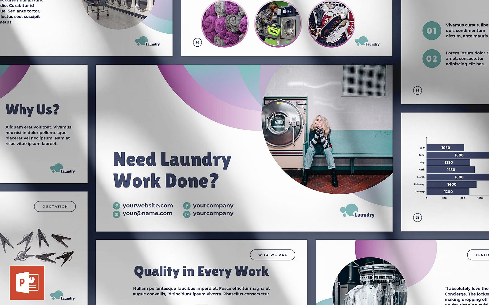 Laundry Presentation PowerPoint Template