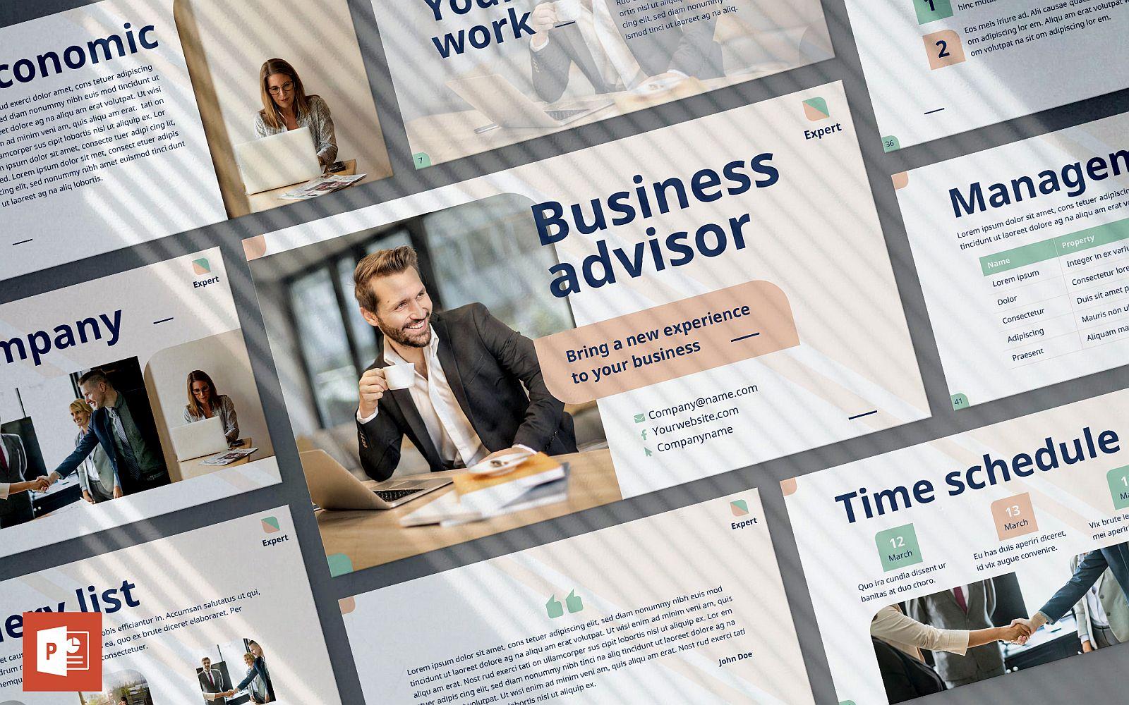 Business Advisor Presentation PowerPoint Template