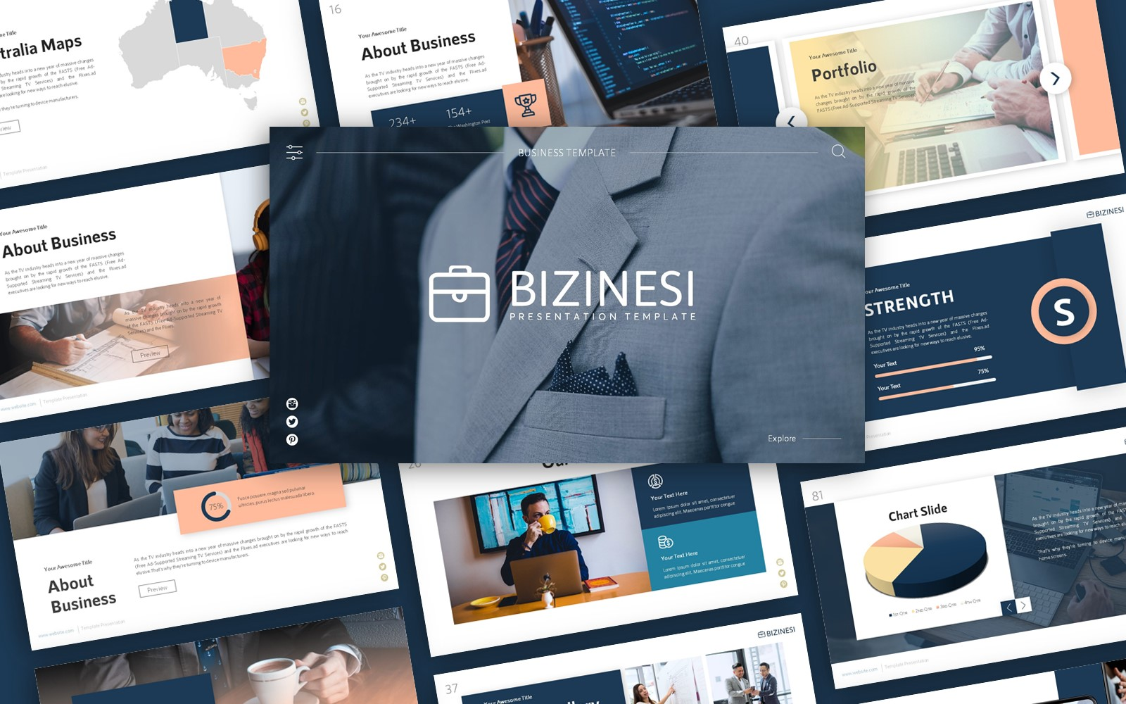 Bizinesi Business Presentation PowerPoint Template