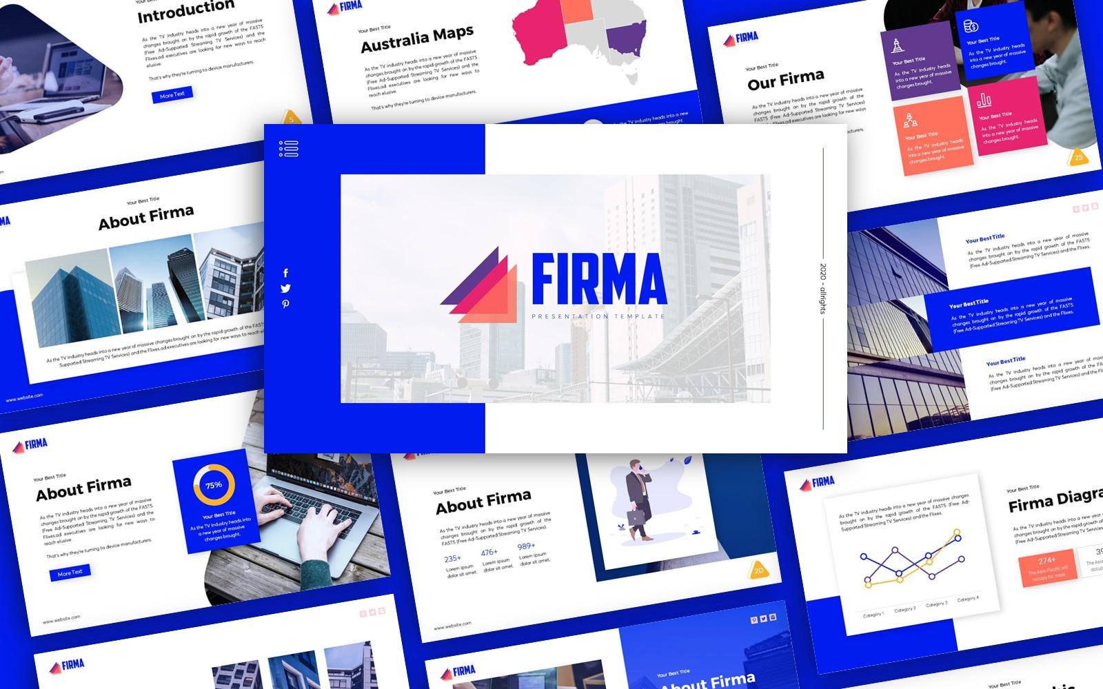 Firma Business Presentation PowerPoint Template