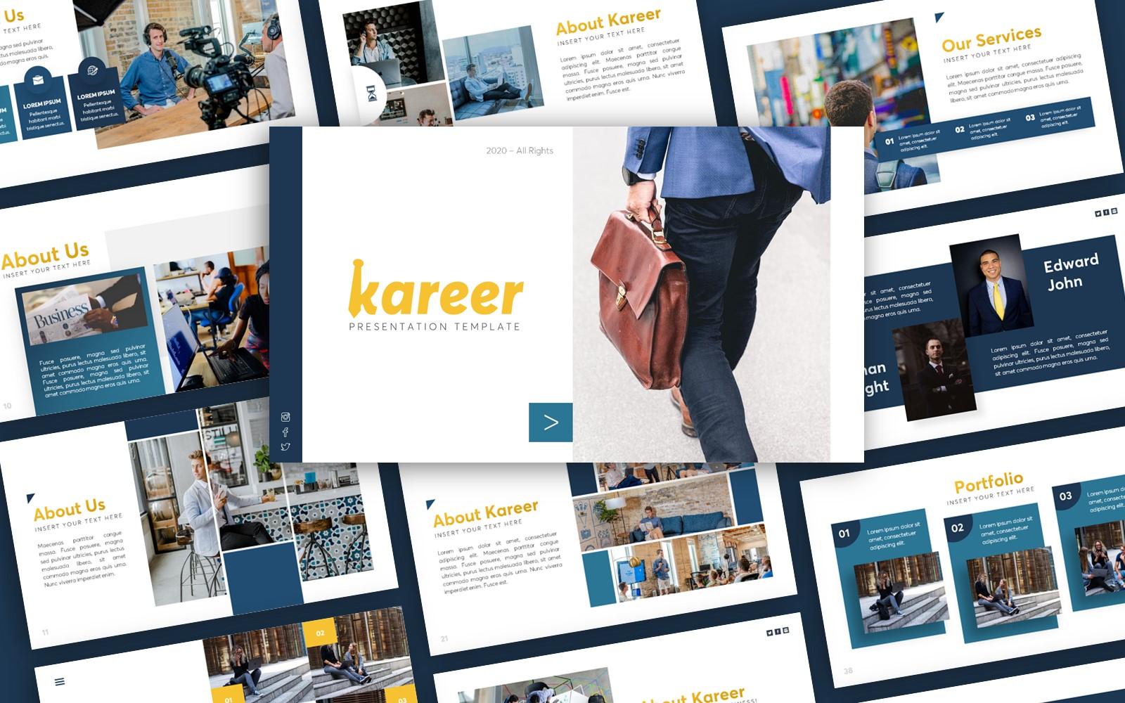 Kareer Business Presentation PowerPoint Template