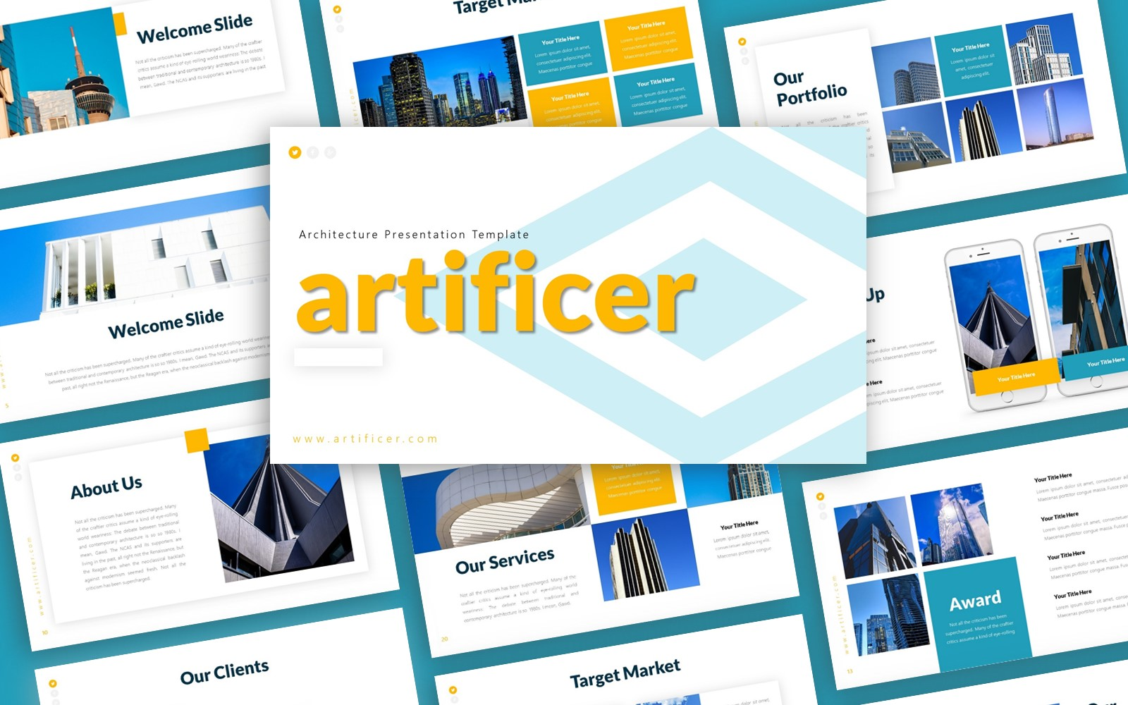 Artificer Architecture Presentation PowerPoint Template