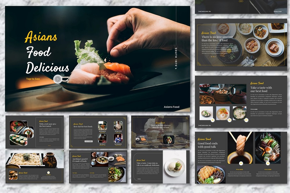 Asians Food - Food & Beverage Presentation PowerPoint Template