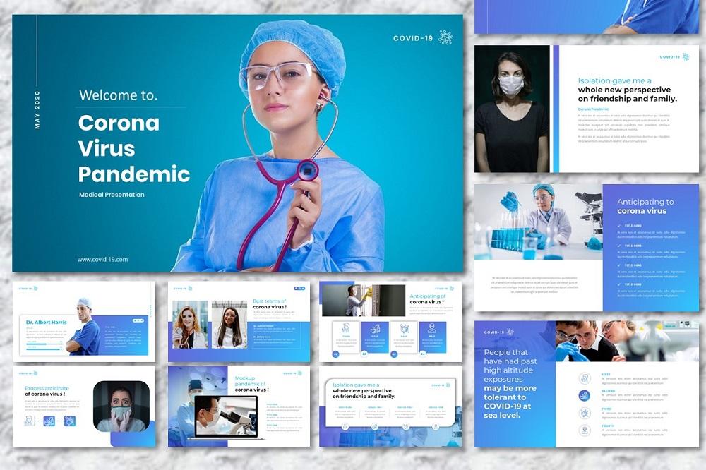 Corona Virus - Medical Presentation PowerPoint Template