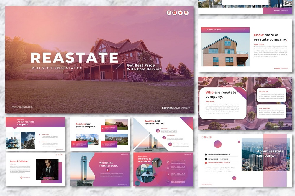 Reastate - Real Estate PowerPoint Template