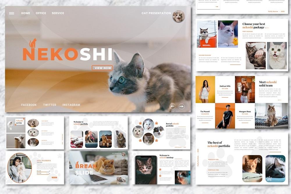 Nekoshi - Pet Business  Presentation PowerPoint Template