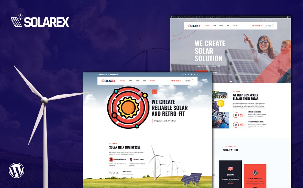 Solarex Renewable Solar Energy WordPress Theme