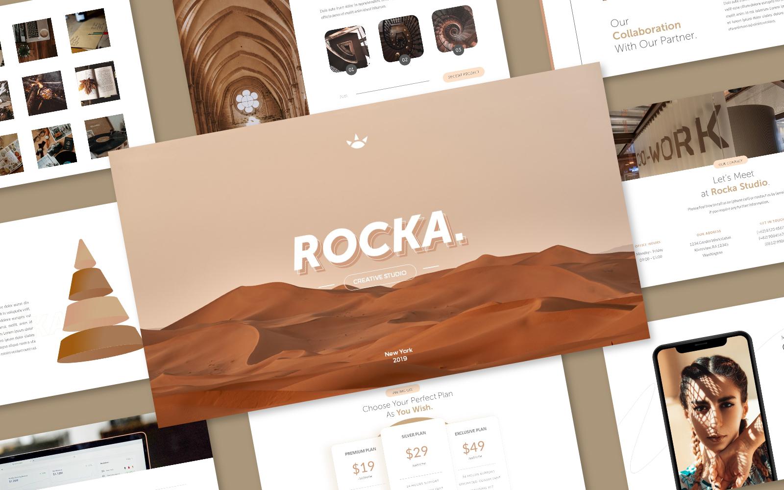 Rocka Creative Business PowerPoint Template