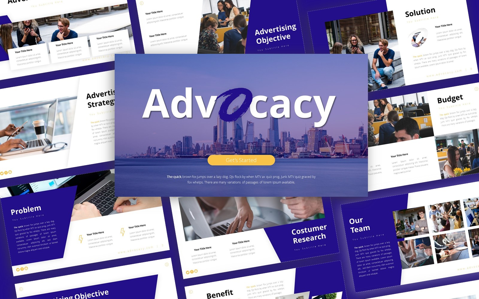 Advocacy Advertising Presentation PowerPoint Template