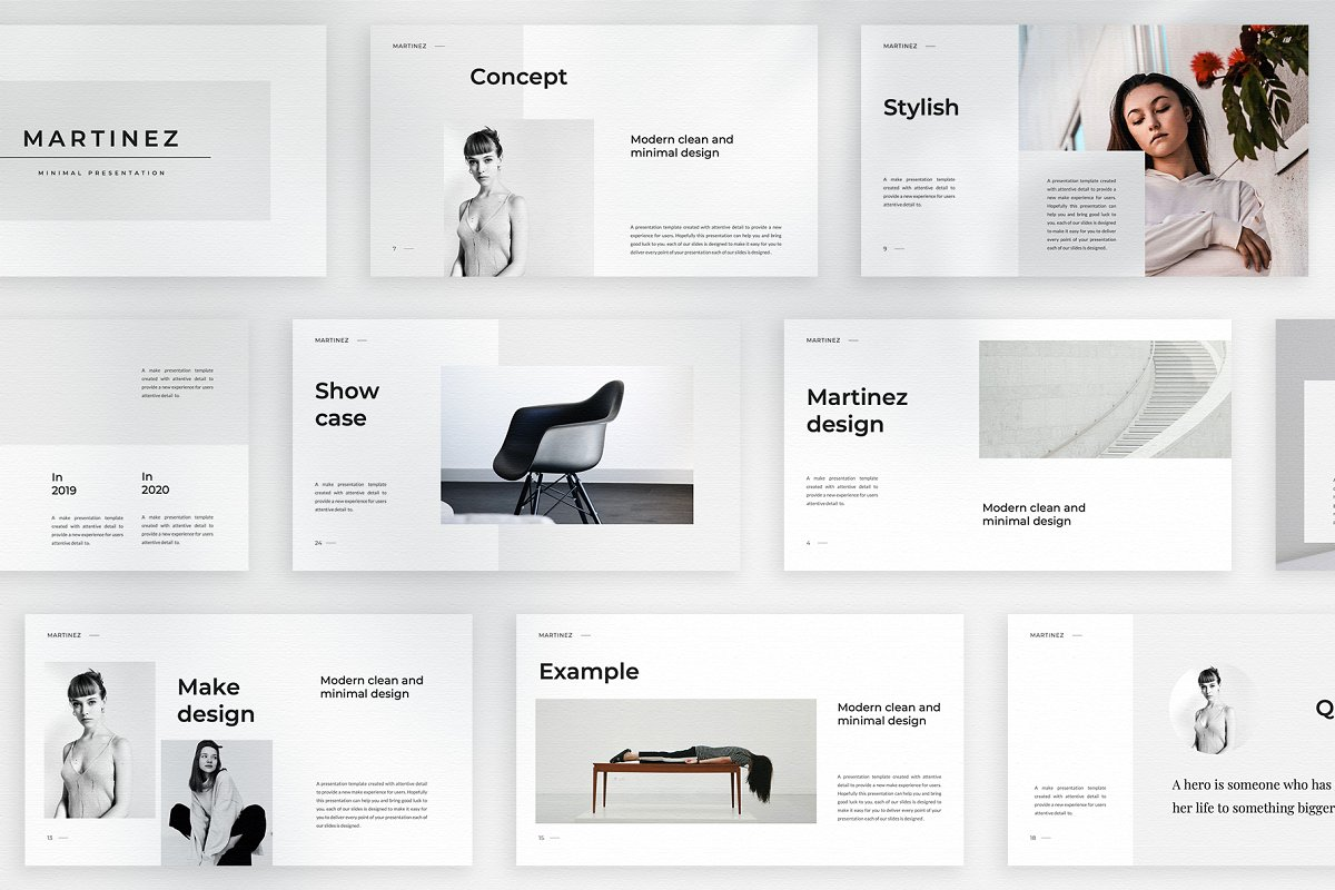 MARTINEZ - Mnml PowerPoint template
