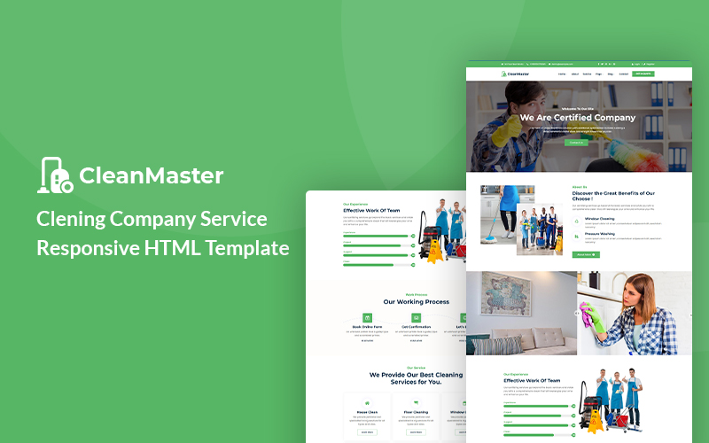 Cleanmaster - Cleaning Company Service HTML5 Website Template
