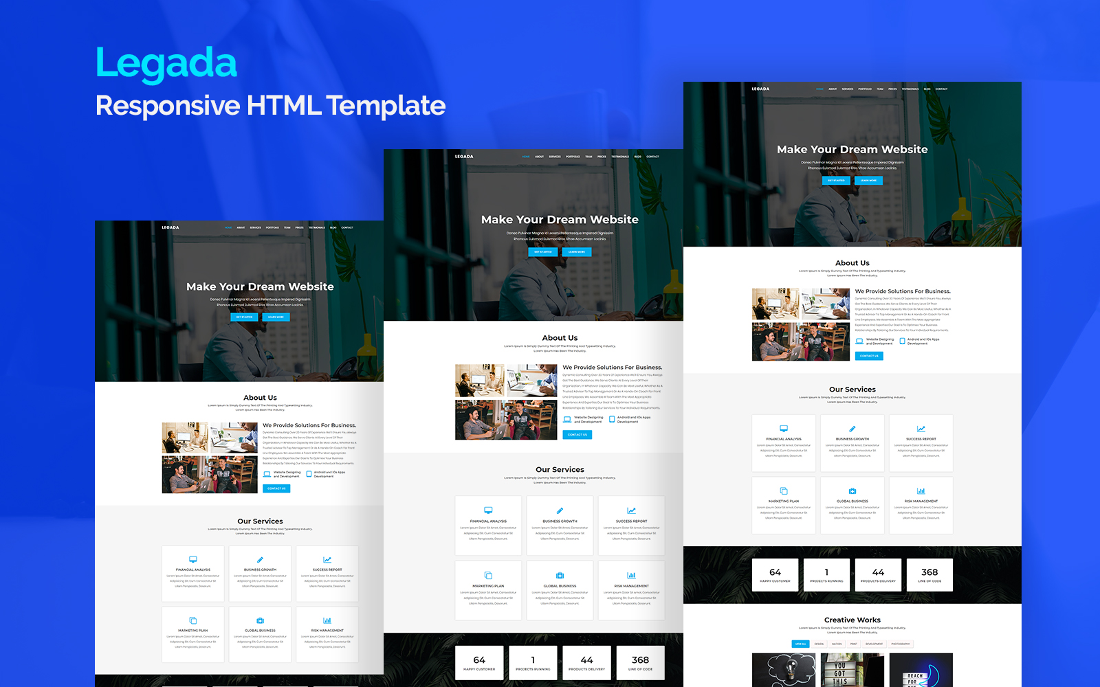 Legada - Responsive Landing Page Template